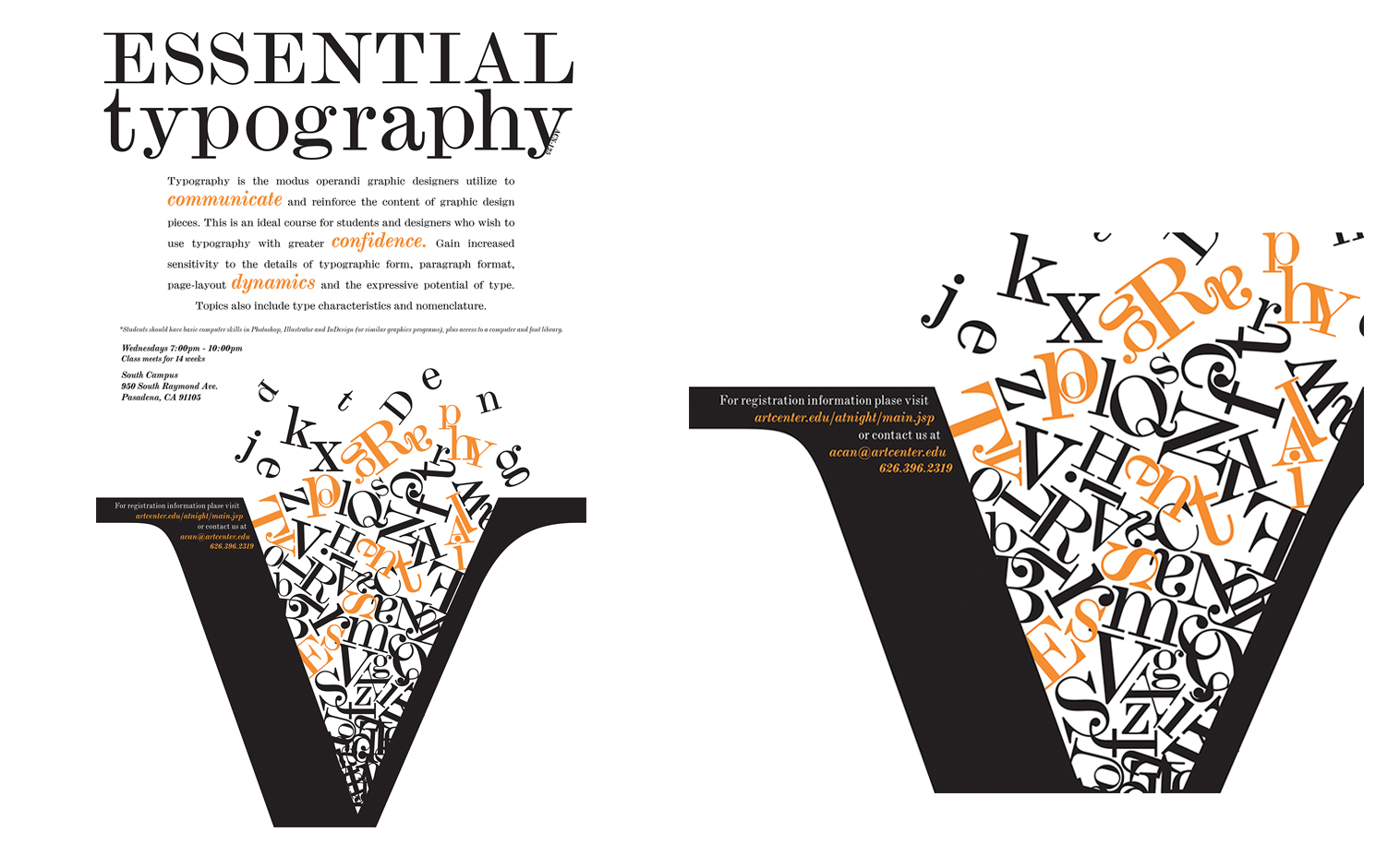 Typography Design. 8x10 Poster
