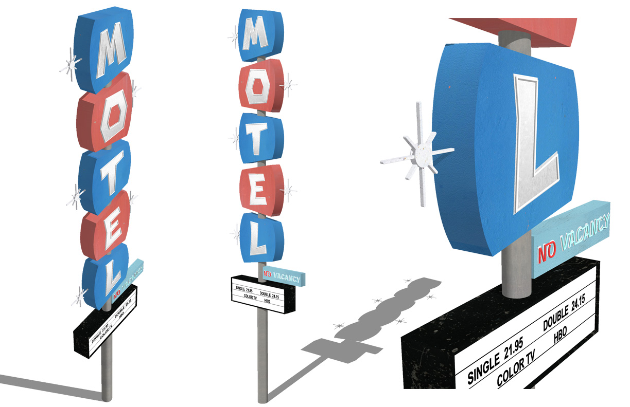 Retro Sign Series - Motel Sign   Created in Sketchup