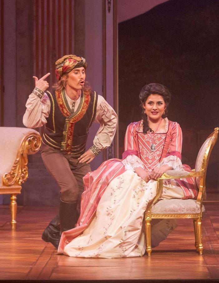 Colin Ramsey as Guglielmo and Cassandra Zoe-Velasco as Dorabella  Photo Credit: Bob Shomler