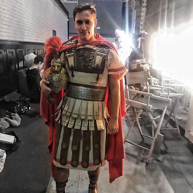 Last rodeo with @yuvalsharonla @industryopera @laphil for the craziest show I've ever been a part of! #europeras has been such a joy to be a part of. And this beautiful costume not only was in the movie 300, but is what I wear singing the Berlioz Mephistopheles Serenade while checking out some produce!
