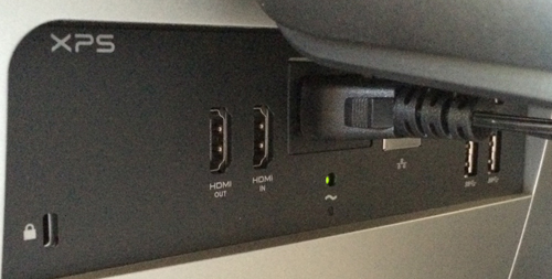 There are many, many places to plug in peripherals. More are on the side as well.
