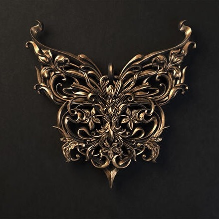 MORE METAL!🤘🤘🤘 ⠀ #artnouveau #butterfly #metalwork #jewelry #bracelet #render #zbrush #cinema4d #floral #elfart #design #ornamental #fantasyart #fantasy #cg #arnoldrener #octane #c4d #thegraphicspr0ject #artstation #adobe #customjewelry #butterflyjewelry #renderzone #dailyrender #xuxoe #ornament #gold #behance #sashavinogradova