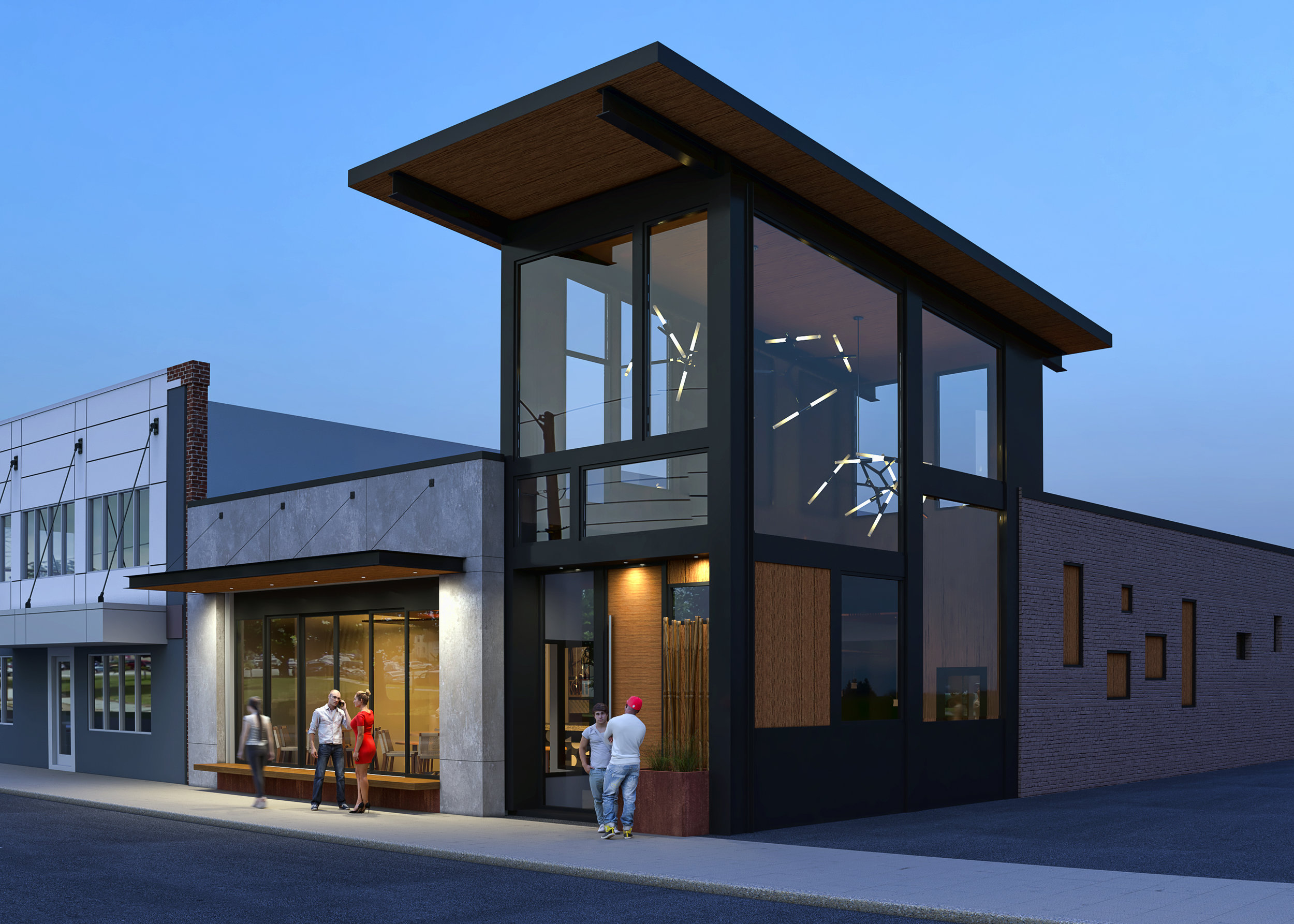 Perch's Exterior Rendering by Johannas Design Group