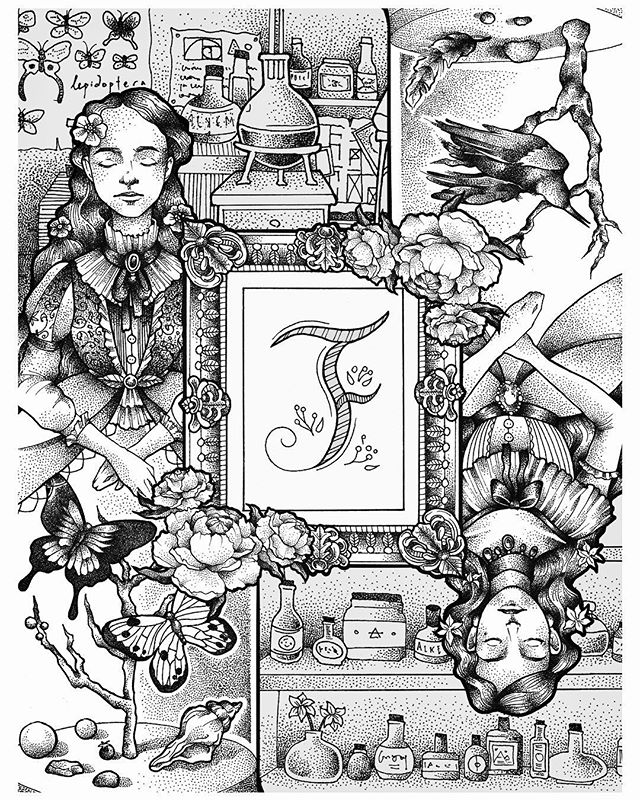 I finished this piece some months back 🦋 You might spot the coloured version in this month's FEMALE Singapore! . . . #art #illustration #illo #process #victorian #doitfortheprocess #womenwhodraw  #illustratie #ladyartist #outlines #bnw #drawinginprogress #illustration_best #illustrationartists #girlswhodraw #draweveryday #sketchbook #sgart #sgartists #sketchbook #sketching #artist_sharing #micron #rotring #dotwork #dotworkers