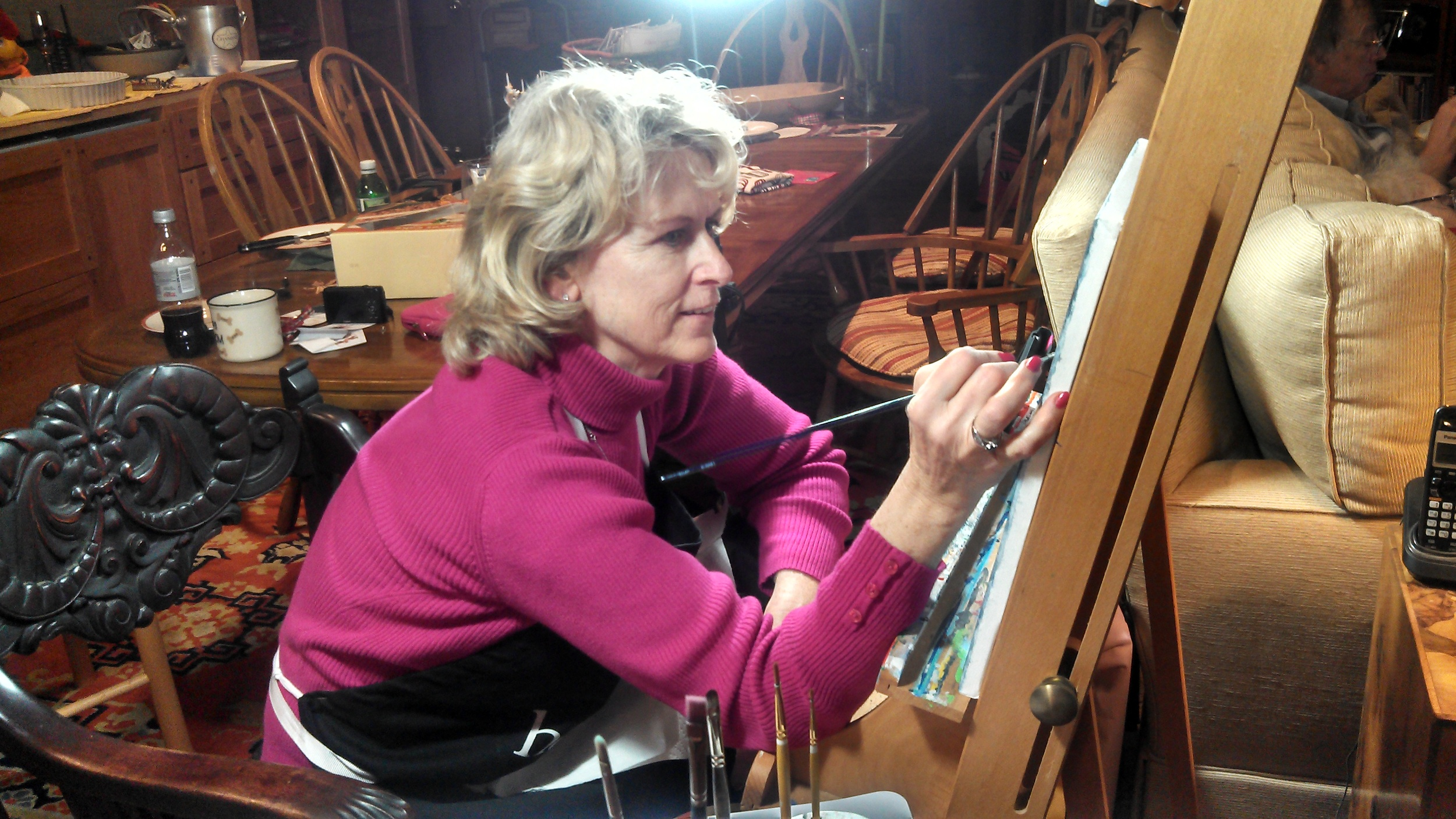 Barbi Bailey-Smith at her easel