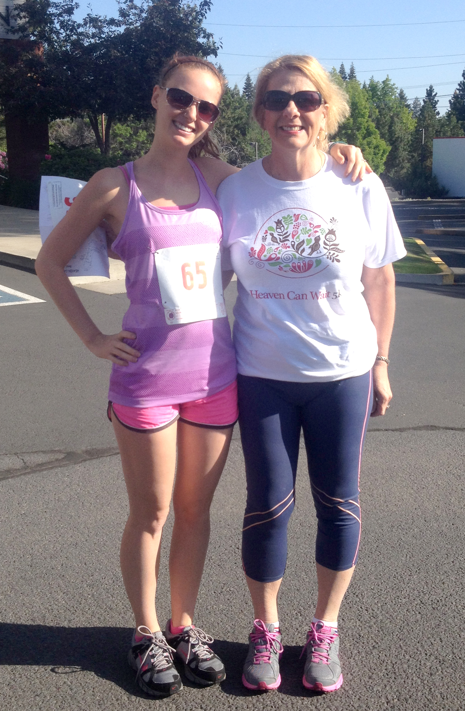 My step-mom and I ready to run!