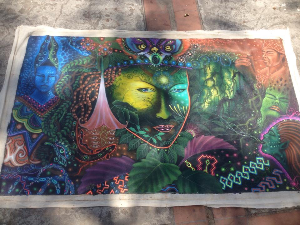 Visionary artwork from an ayahuasca ceremony