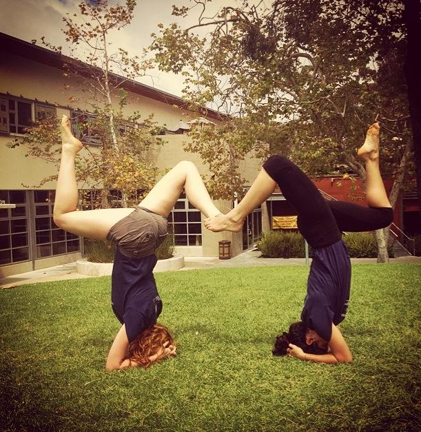 Playing around with a friend on the campus of UCSD, July2014.