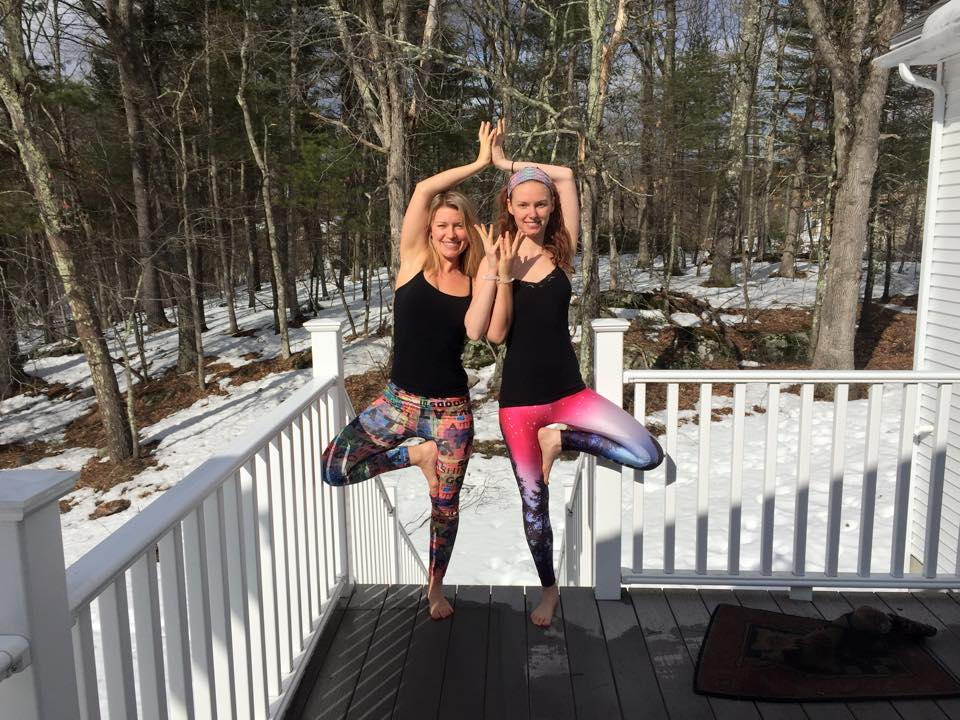 Yoga has brought me closer to so many wonderful people in my life. Here I am with one of my best friends, Becky, in New Hampshire,March 2015.