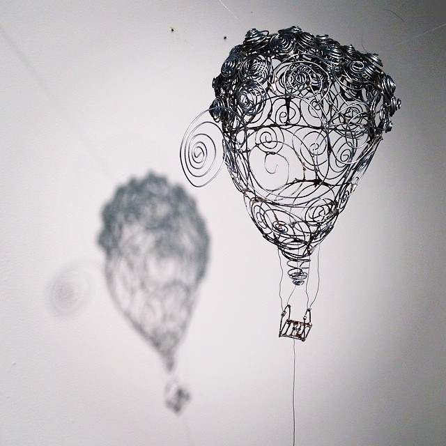 Hot Air Balloon (Wire, fishing line), 2014