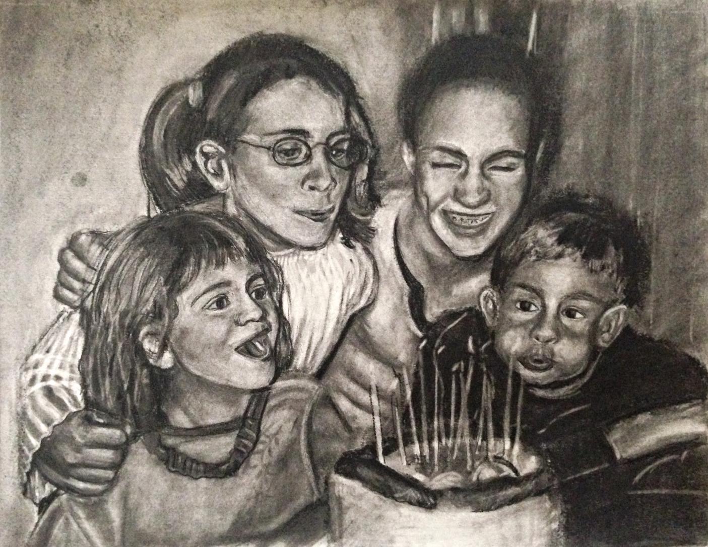 Family Portrait (Charcoal), 2015