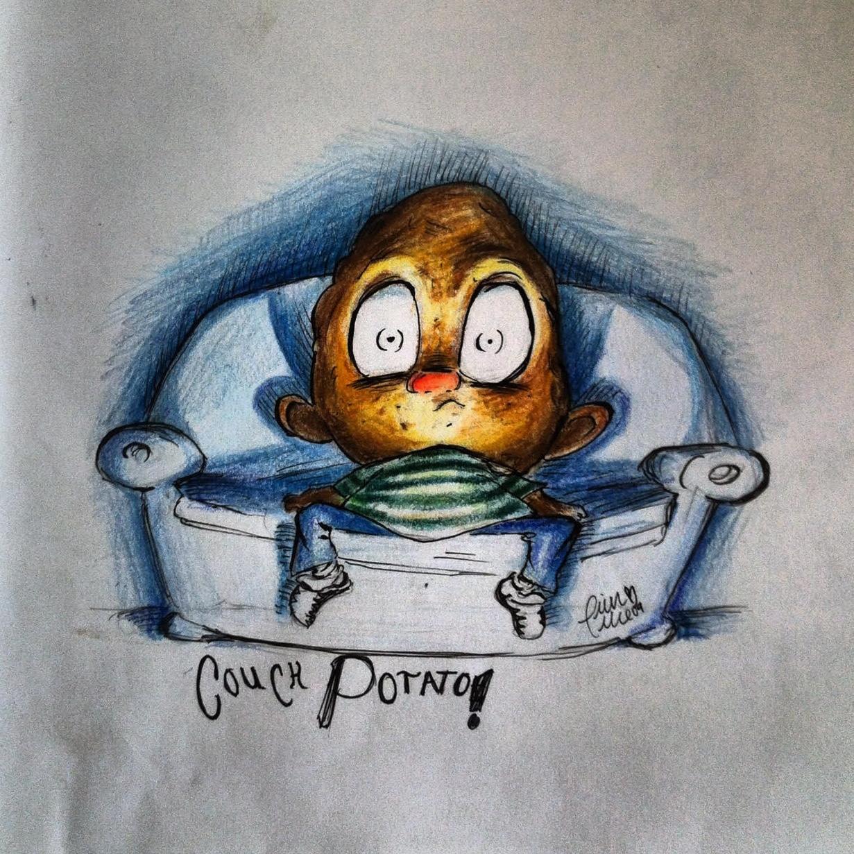Couch Potato (Colored Pencil), 2008