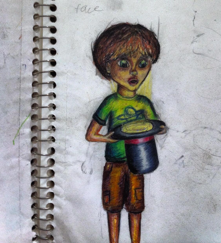 Boy Illuminated Boy (Colored pencil), 2010