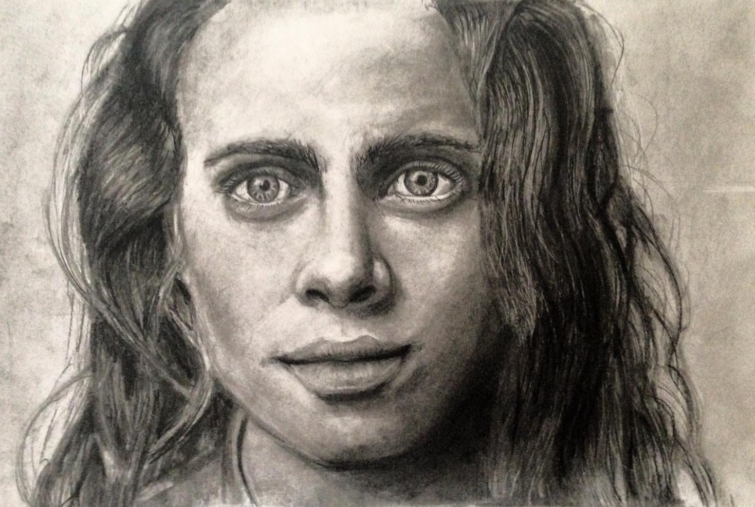 Self Portrait (Charcoal pencil), 2015