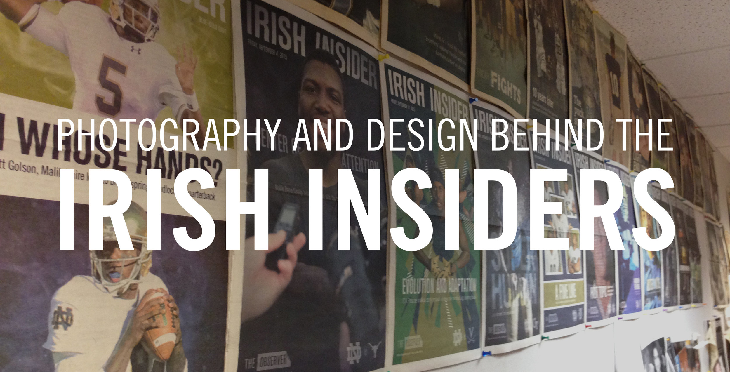 The year's worth of my Irish Insider covers hung and displayed in The Observer Officer