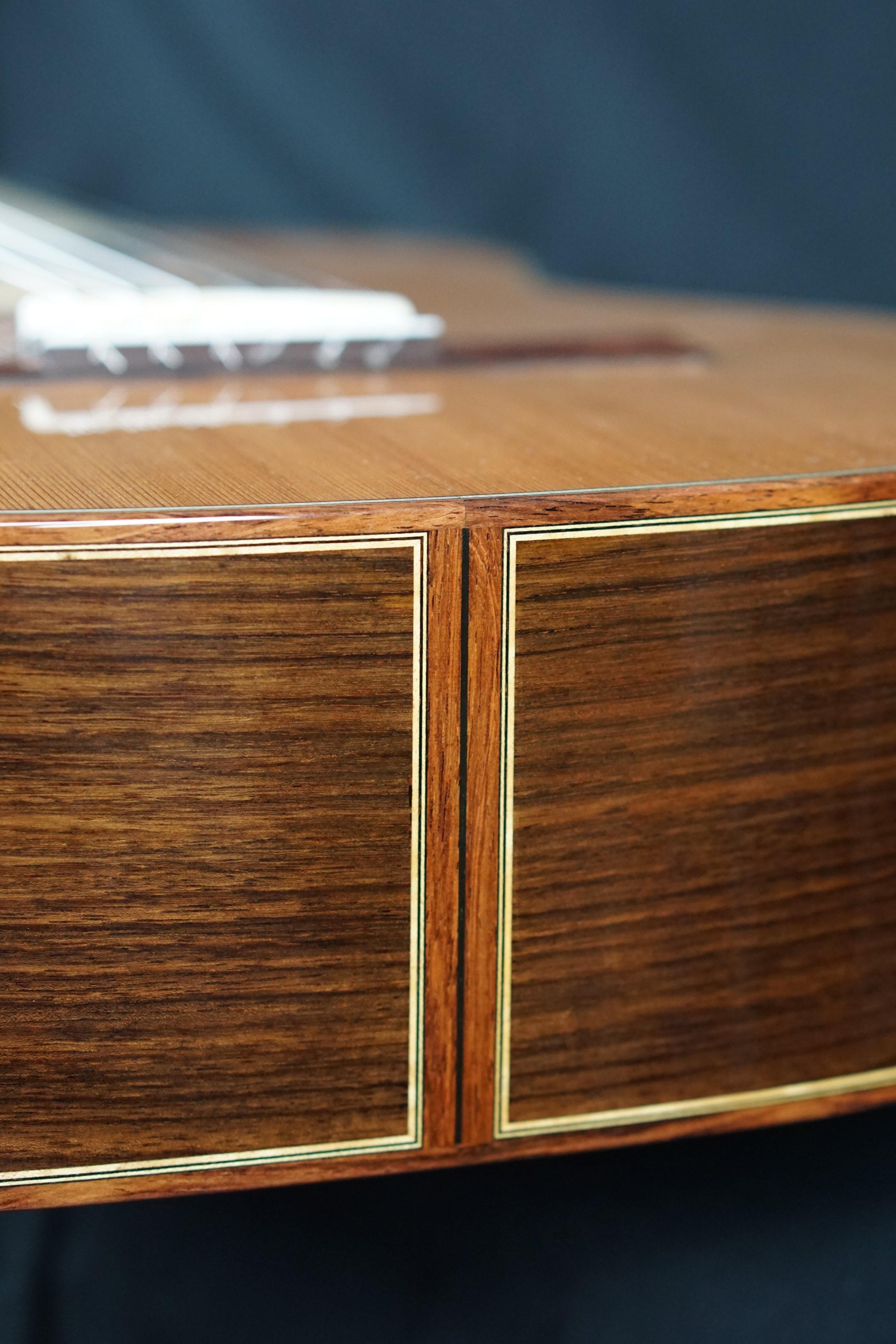 Honduran rosewood end graft detail