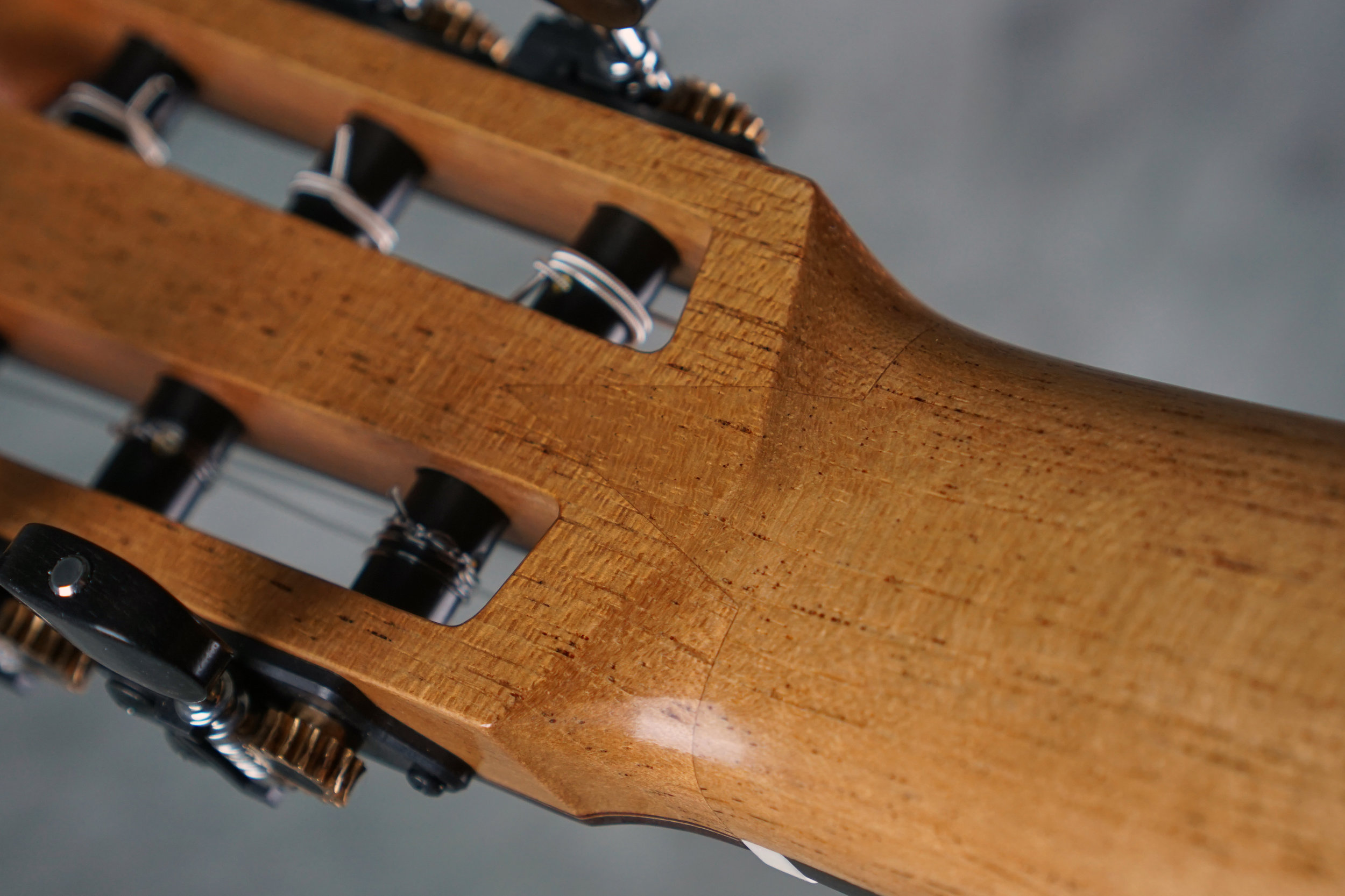 Classical guitar v joint detail
