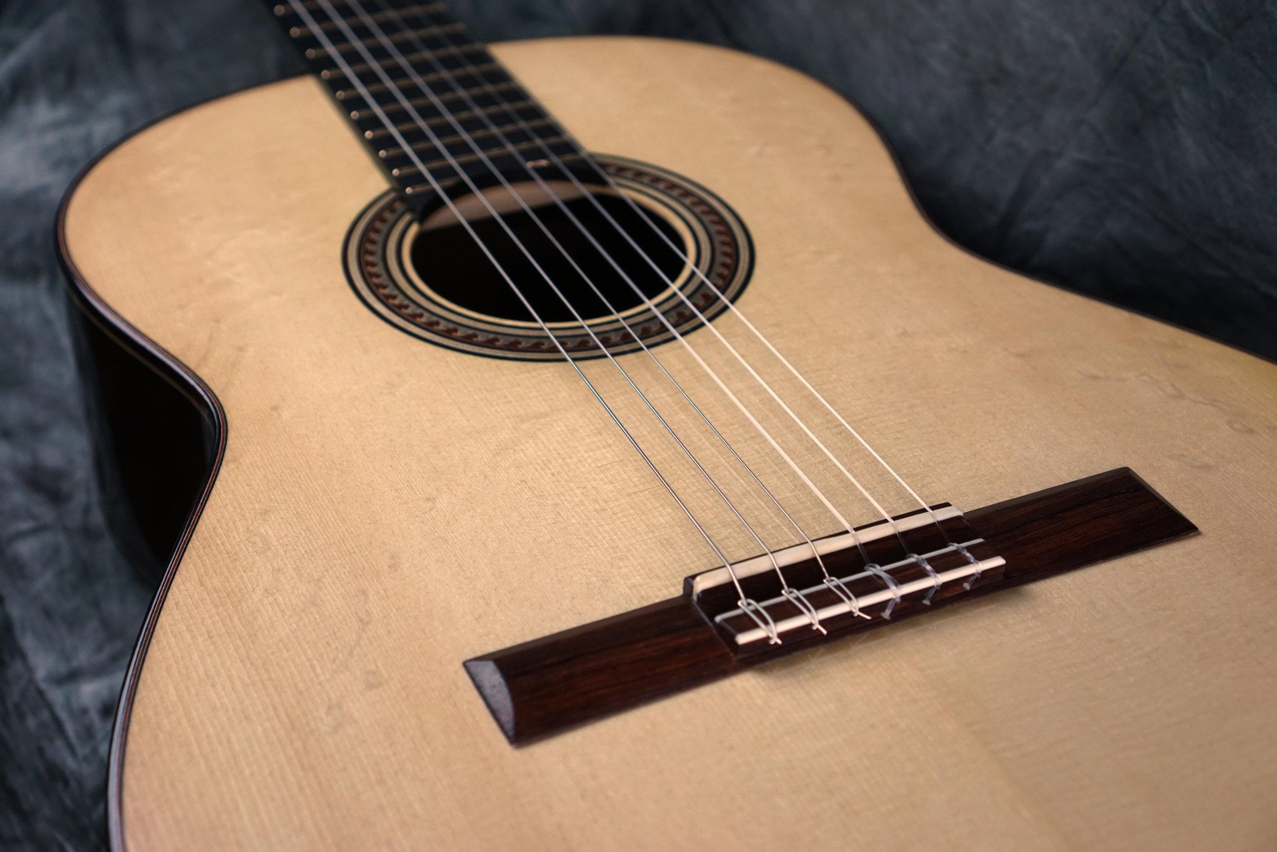 Classical Guitar European spruce bearclaw top 2