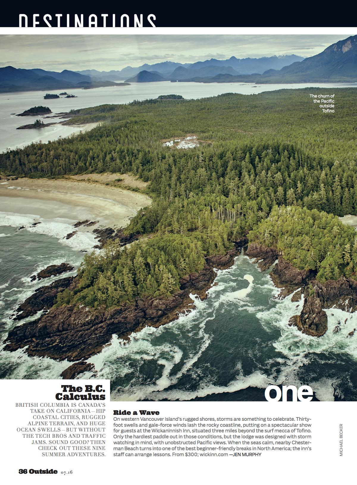 Destinations: British Columbia (July 2016)