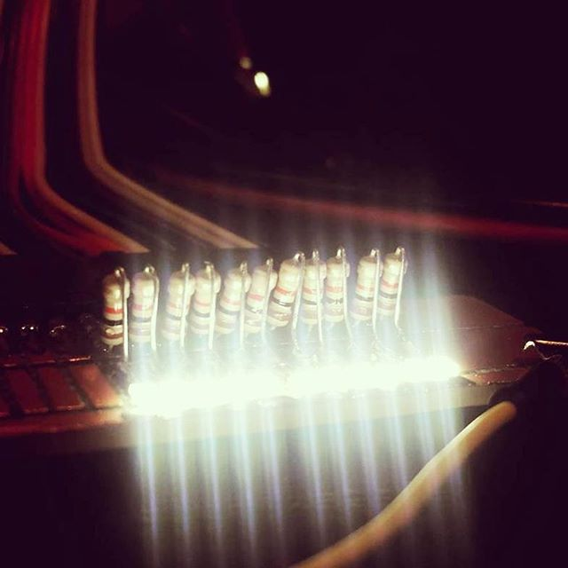 launchpad illuminated touch slider #Prototype #standingdesk #iot #maker #hacker #startup #entrepreneur #desk #ifttt #proton