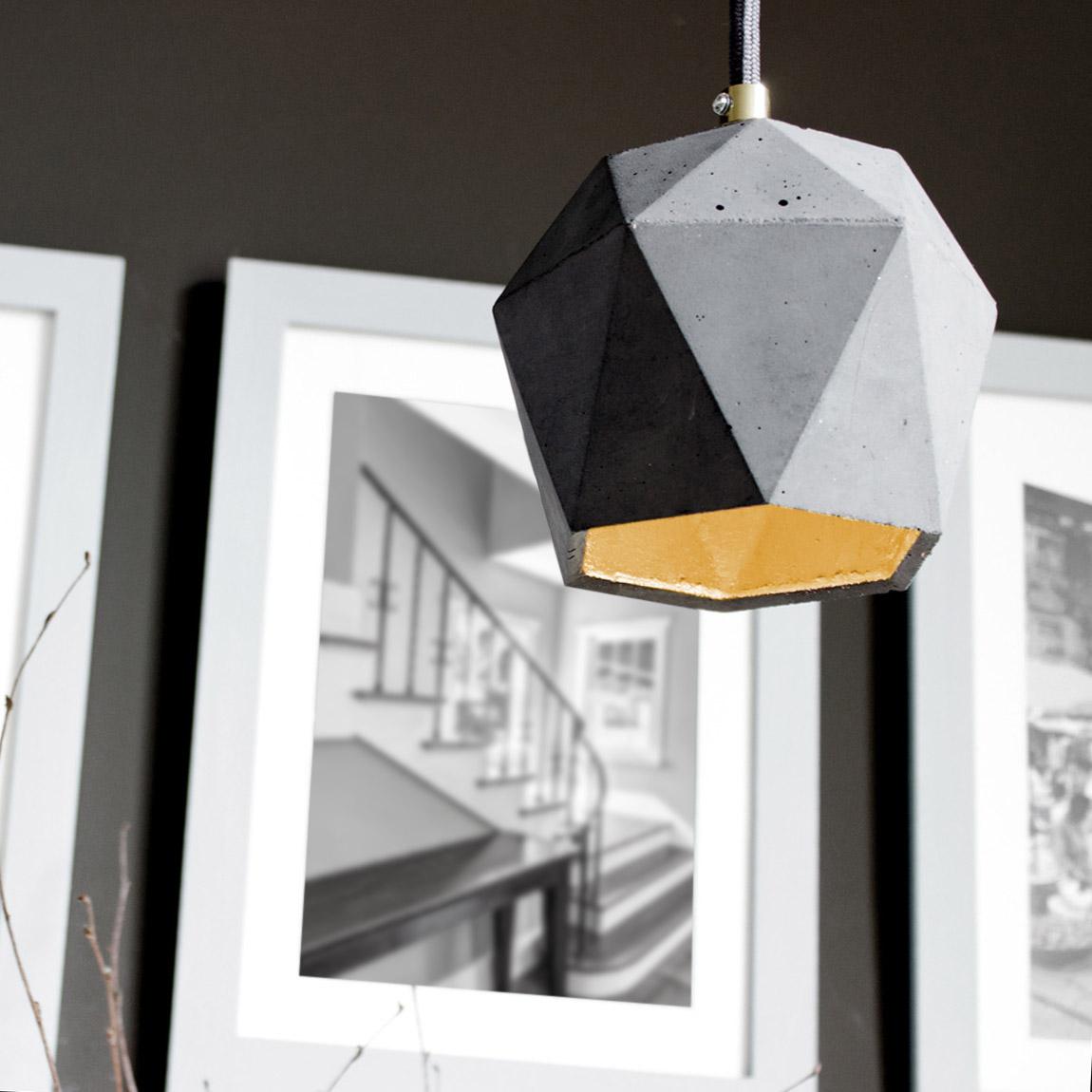 Spacecraft Concrete Industrial Pendant Lamp