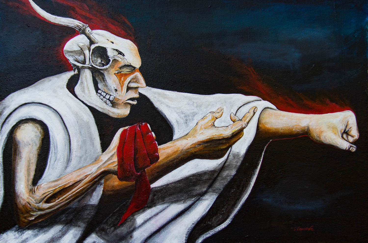 """Old Warriors Never Die Acrylic on canvas 24"""" x 36"""""""