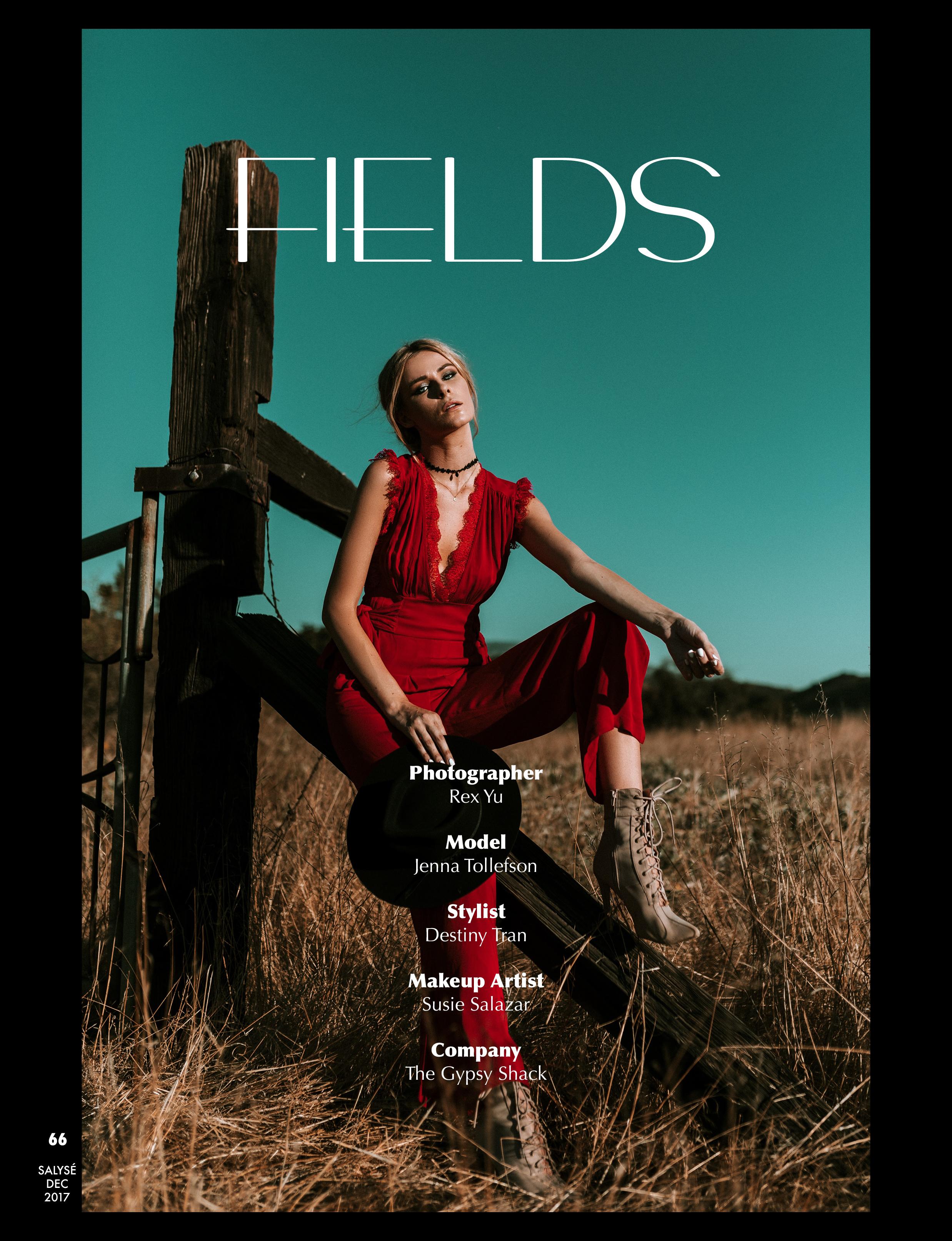 'Fields' - for Salyse MagazineFebruary 2018 Edition