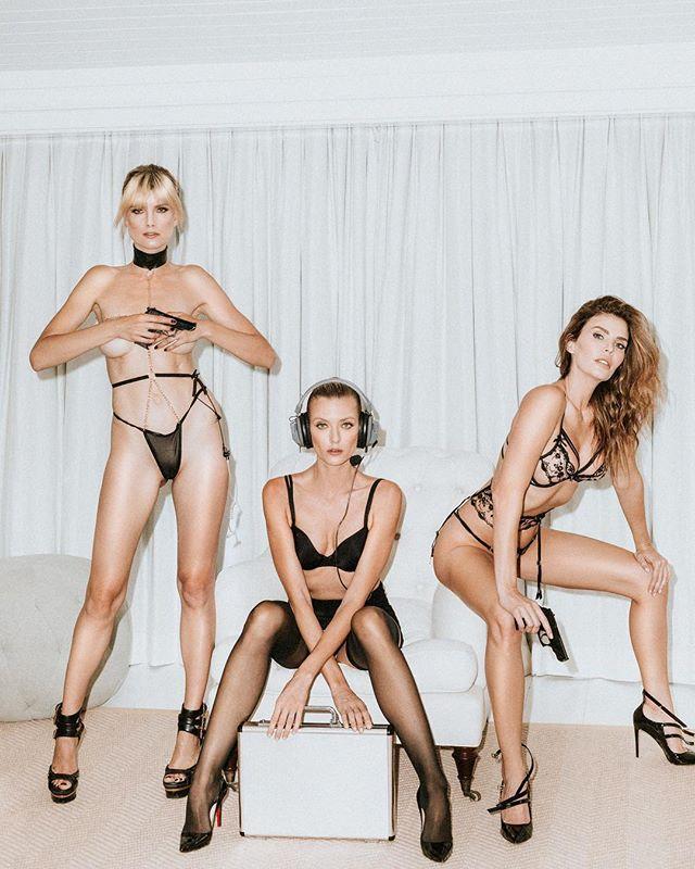 Obligatory #squadgoals hashtag 'From Russia with 🖤' Creative Team:  Stylist & Wardrobe Assistant | @elenanazaroff & @aarongomezp  Make-up | @rebavera  PR | @chiefwolfblood  Models | @julialescova (Creative Director) @eugeniakuzmina @anastassija_m  Photo | @rex.shooter . . . #editorial #l0tsabraids #lingerie #007 #russianspy #girlsfromrussia #musephoto #tangledinfilm #fromdusktilldawn #featuremeofh #wanderingfilm #makeportraits #fashionblogger #publication #highheels #fashionistas #spyvsspy #featuremeseas #pursuitofportraits #theportraitpr0ject#bazaaronline #ftwwne#voguemagazine