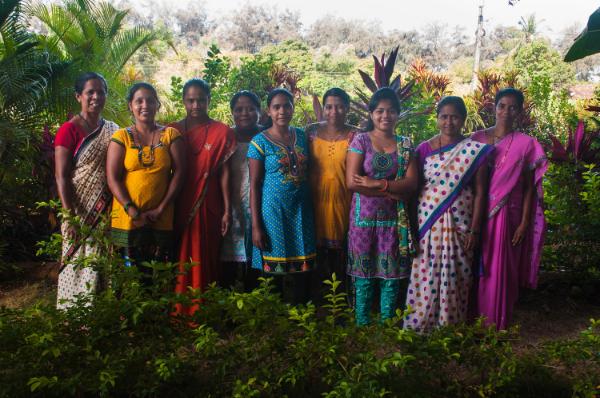 From left to right: Deepa, Reena, Surnam, Agnes, Stella, Rupa, Sahisha ,Malti, and Sarita