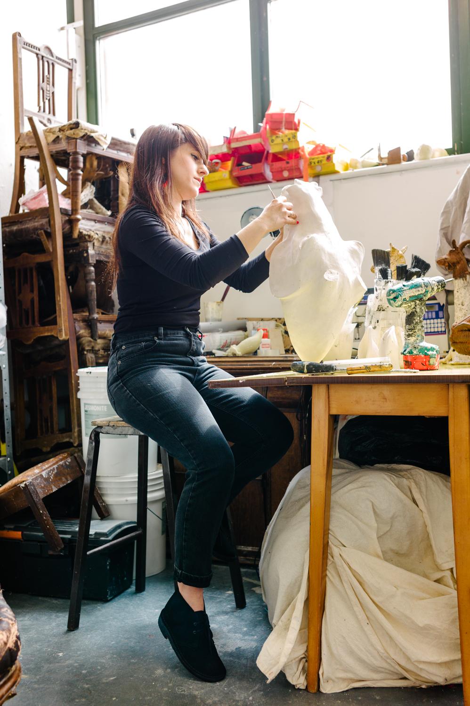 Dorcas Casey in her Studio
