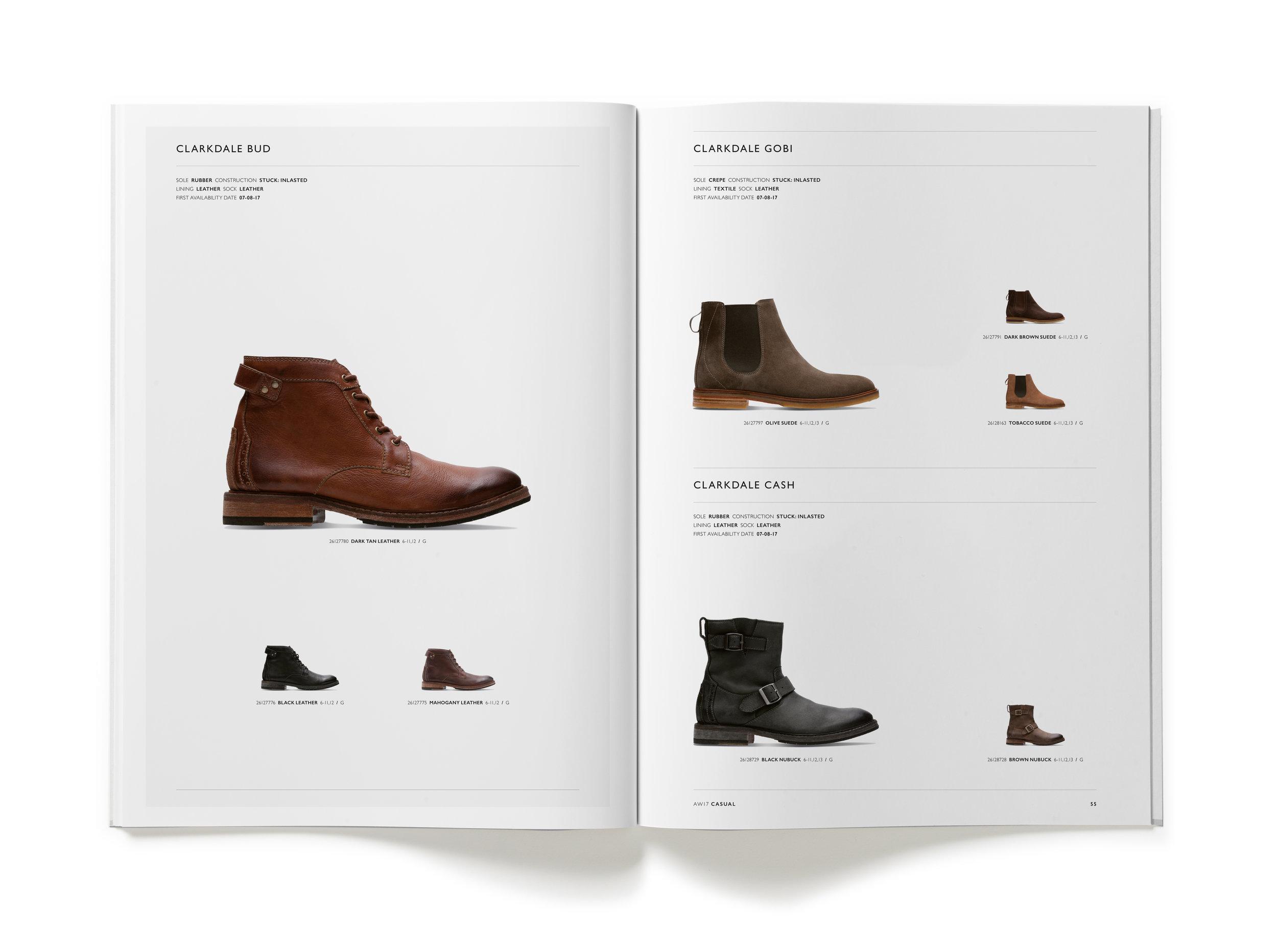 Clarks AW17 Mens Trade Catalogue