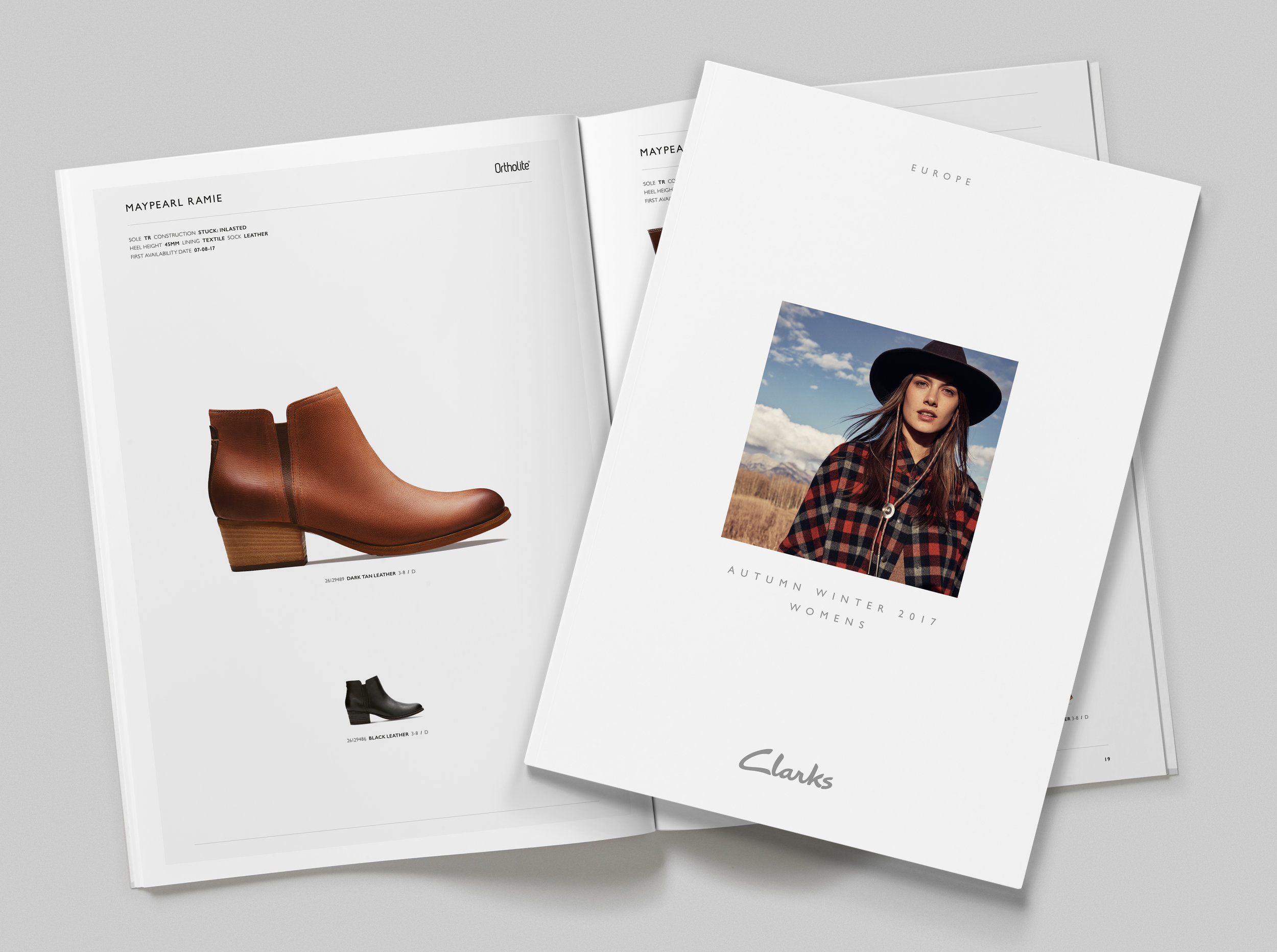 Clarks AW17 Trade Catalogues