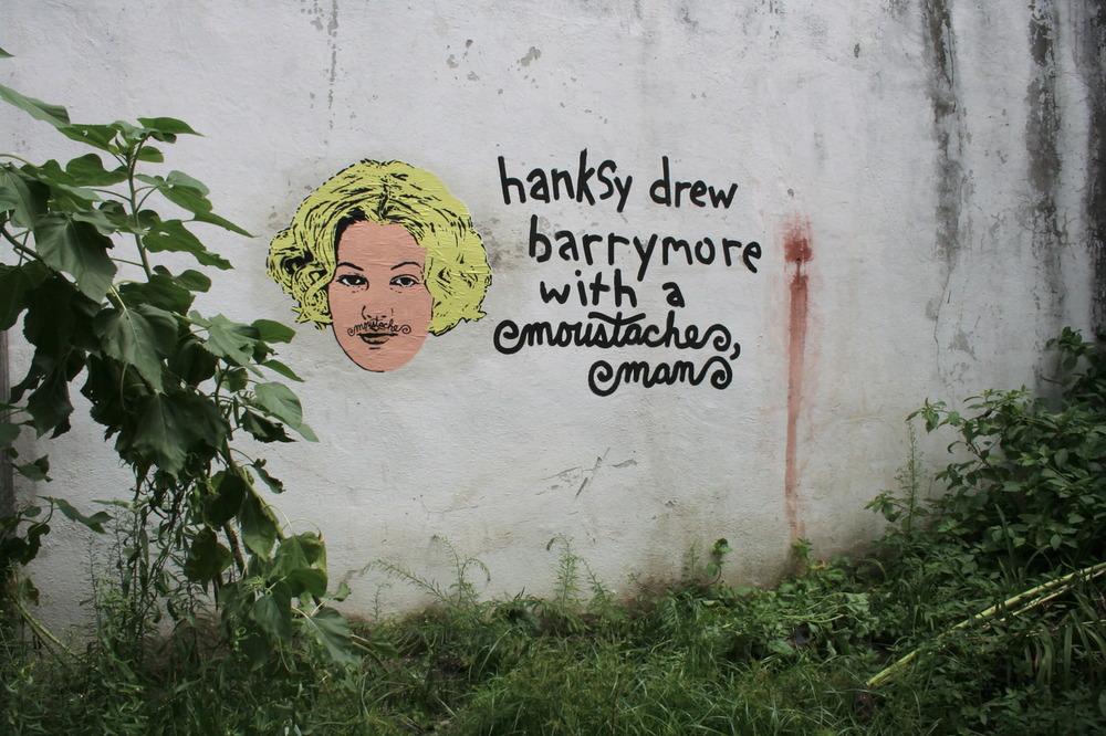 Hanksy x Moustache Man x Drew Barrymore, Brooklyn, NY