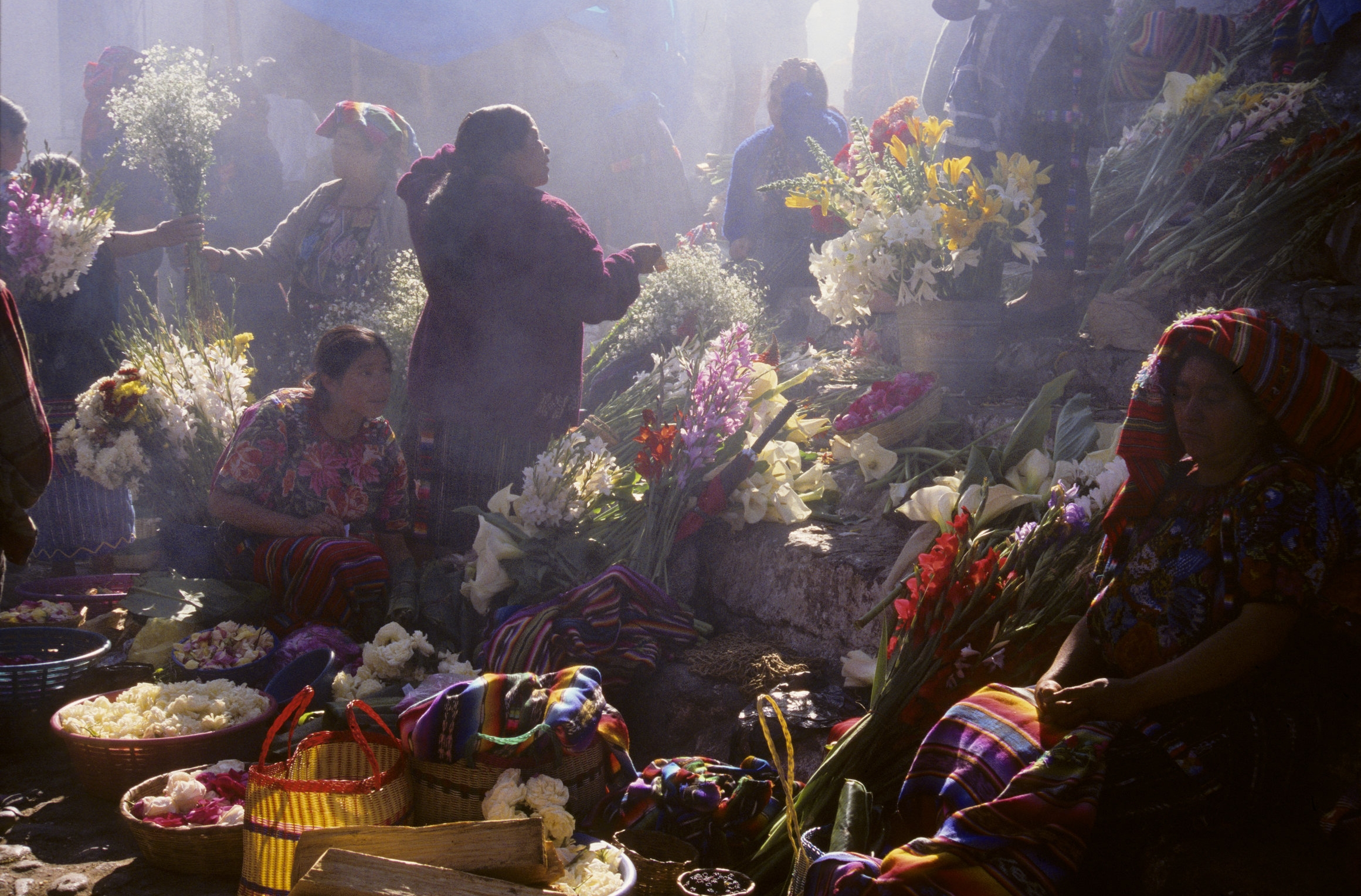 Flower vendors. Chichicastenango