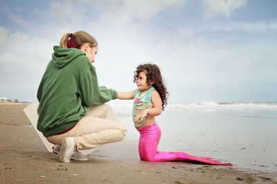 My youngest daughter, Josephina, often accompanies me to my shoots involving children. Here she is on one of my mermaid shoots helping Mermaid Chloe.