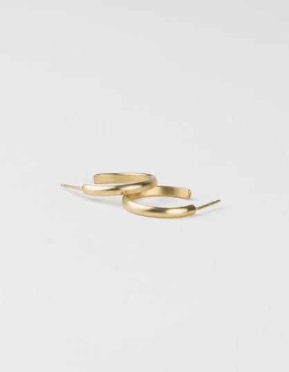GLDN x Layered and Long Farrah Hoop Earrings - Silver