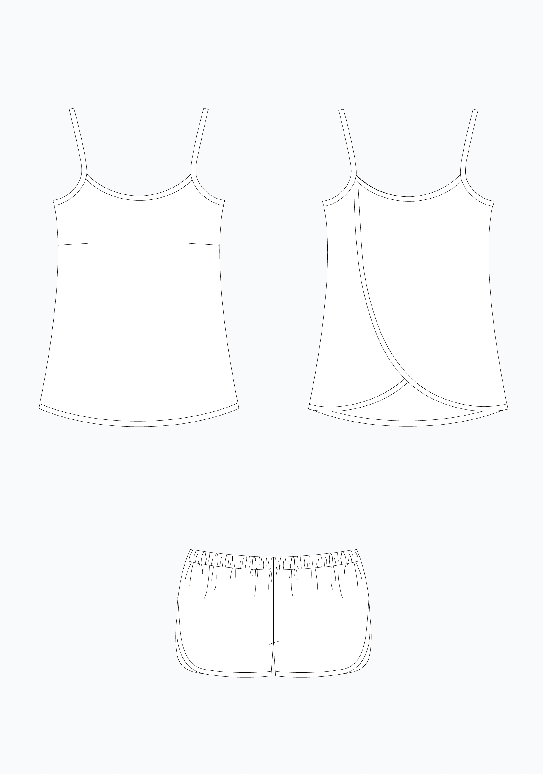Lakeside Pajamas by Grainline Studio