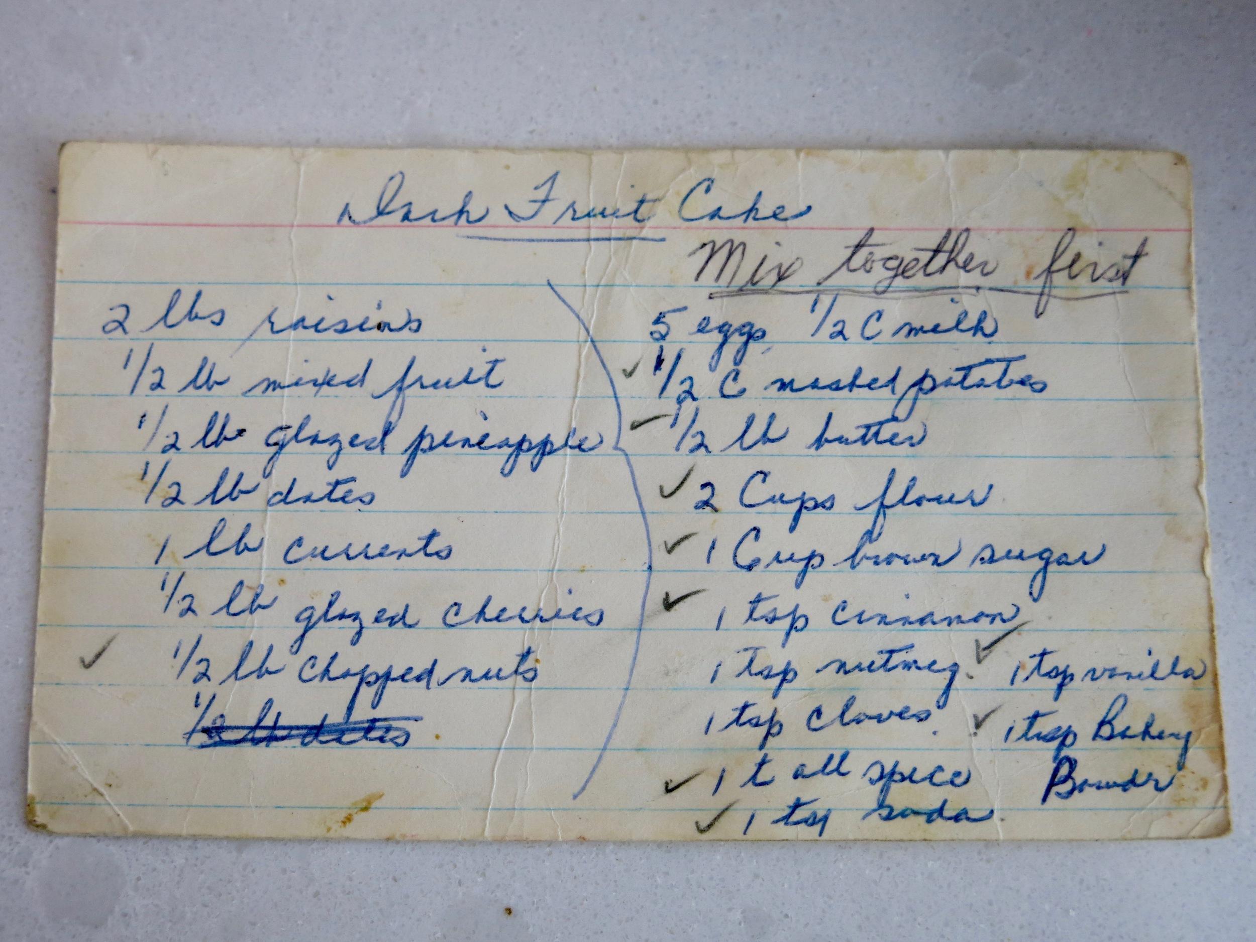 The recipe card.
