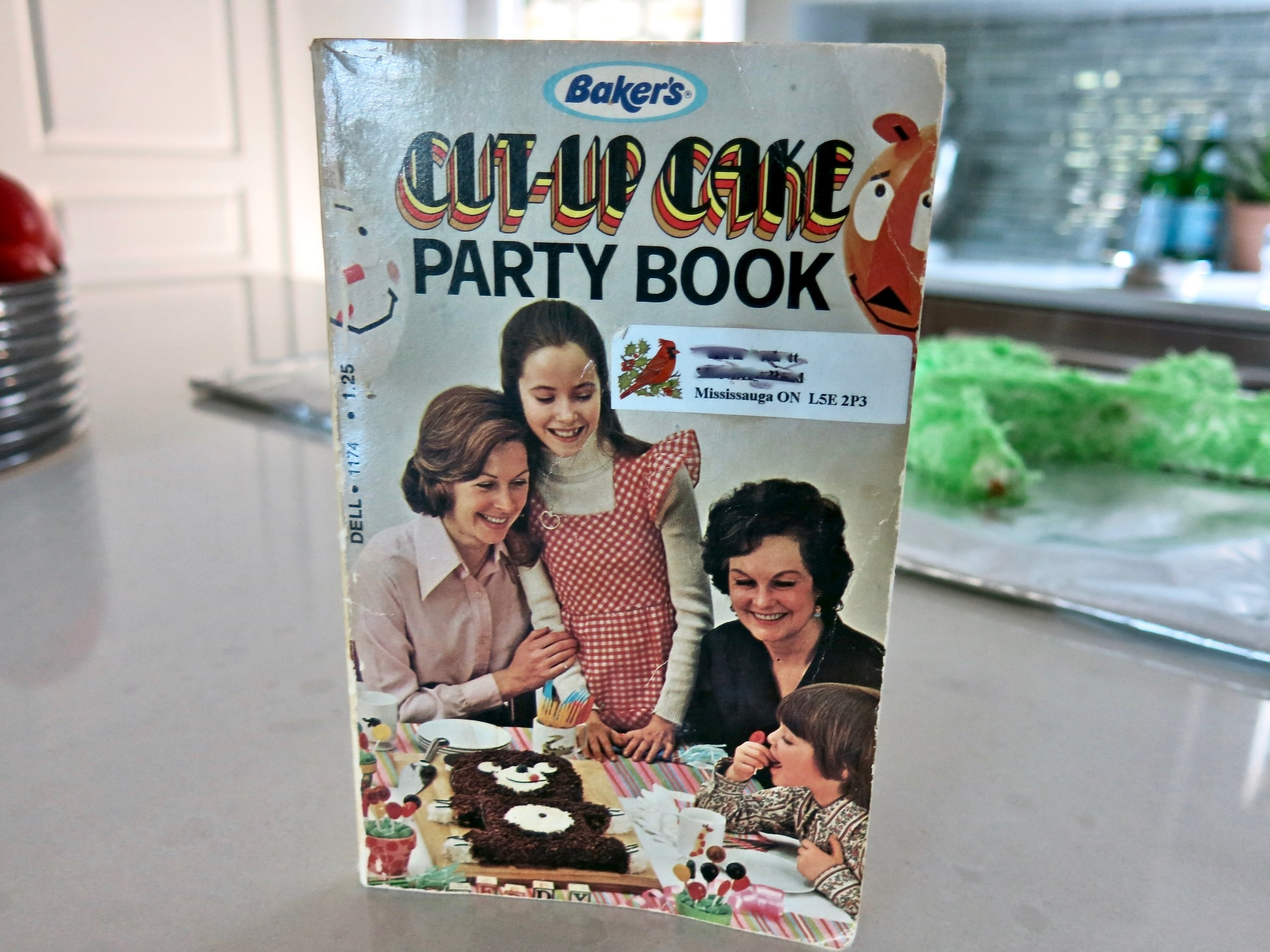 Here's my Cut-Up Cake Party Book. People were happier in the 70s, as you can tell.