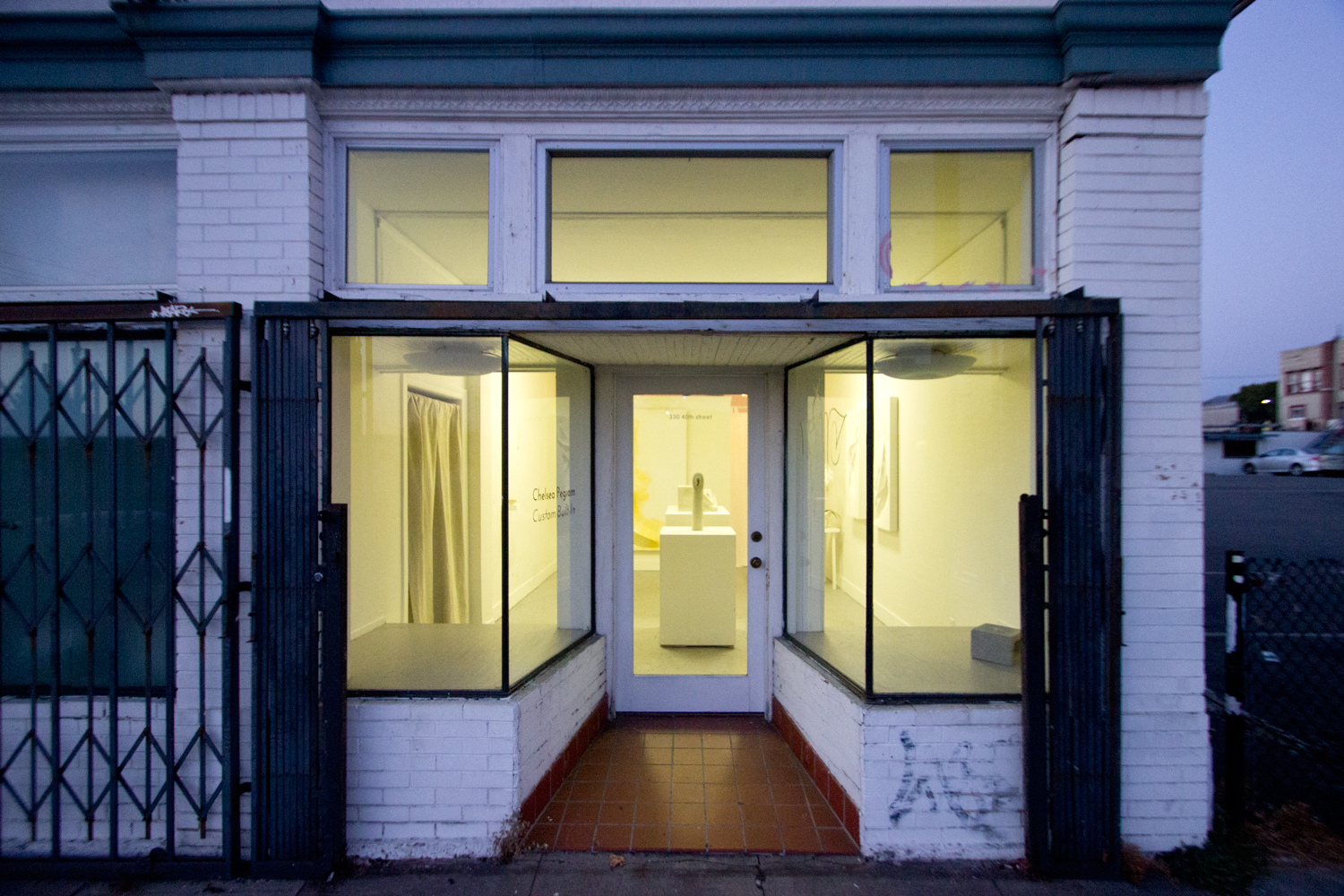 Street view of  Custom Built-In  at gallery Three30Forty in Oakland, CA.