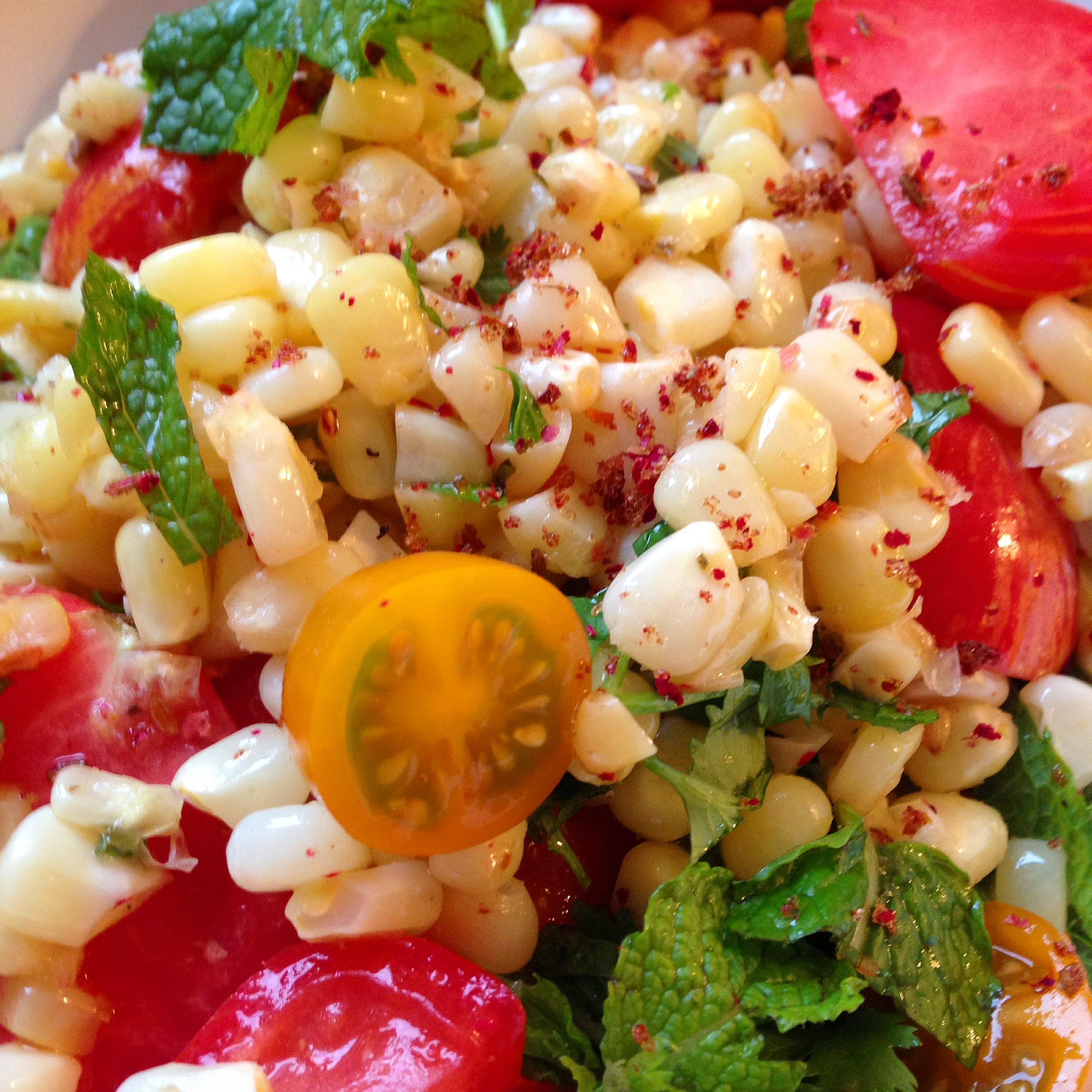 Summer Corn and Heirloom Tomato Salad