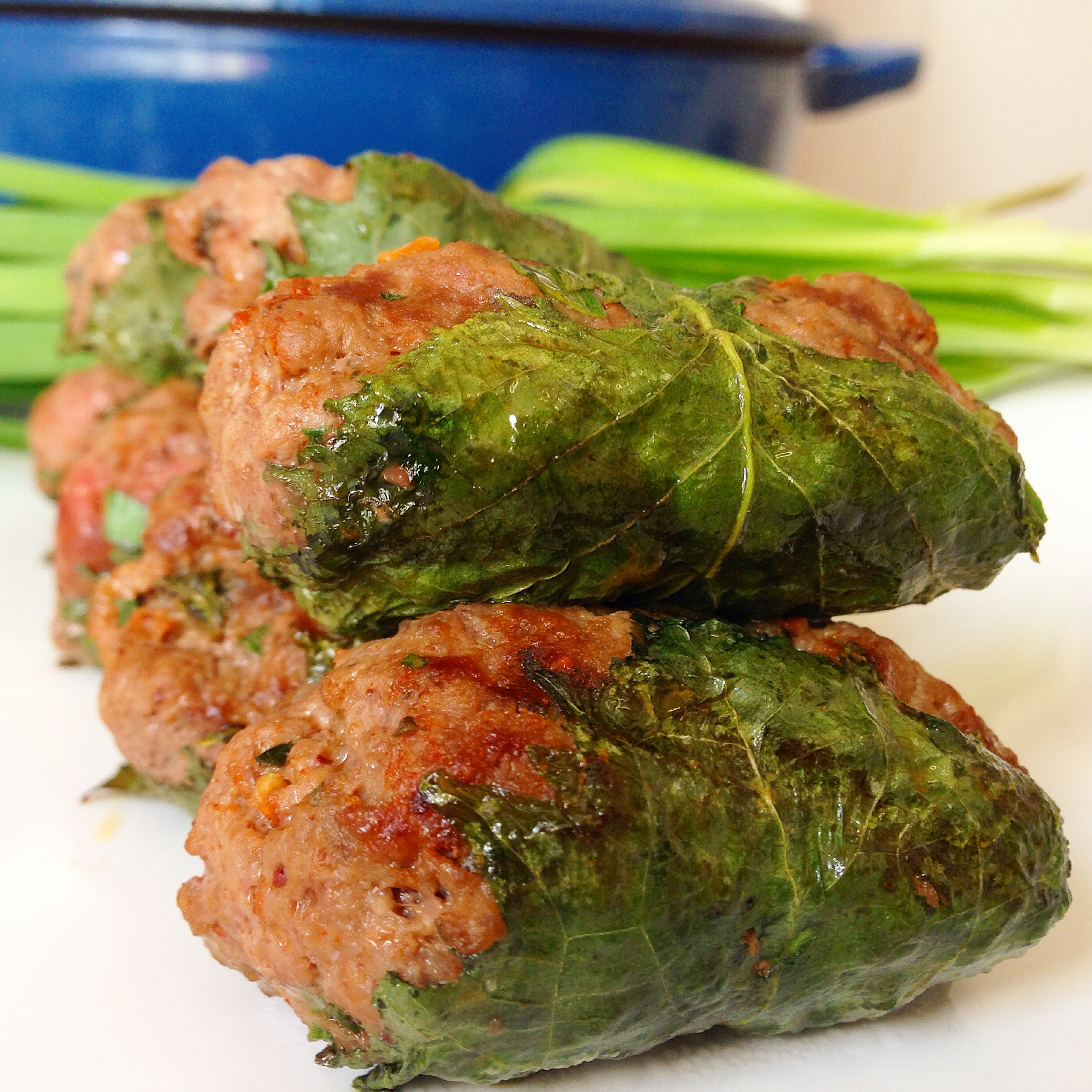 Stuffed Shiso Leaves