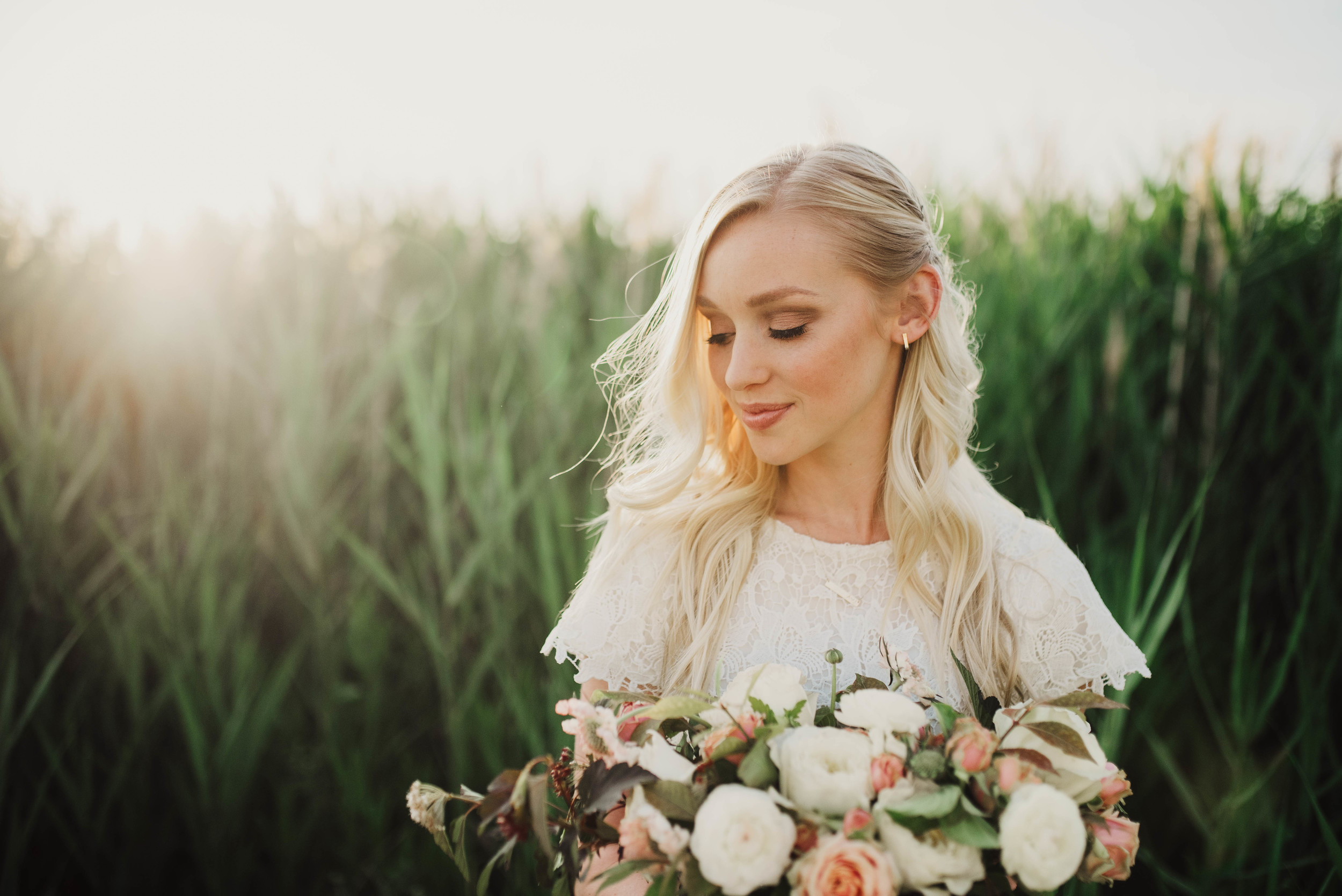 Sunset Utah bridals