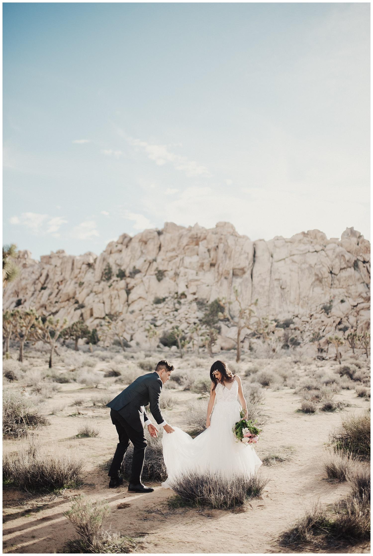 Bridal Session in Joshua Tree California