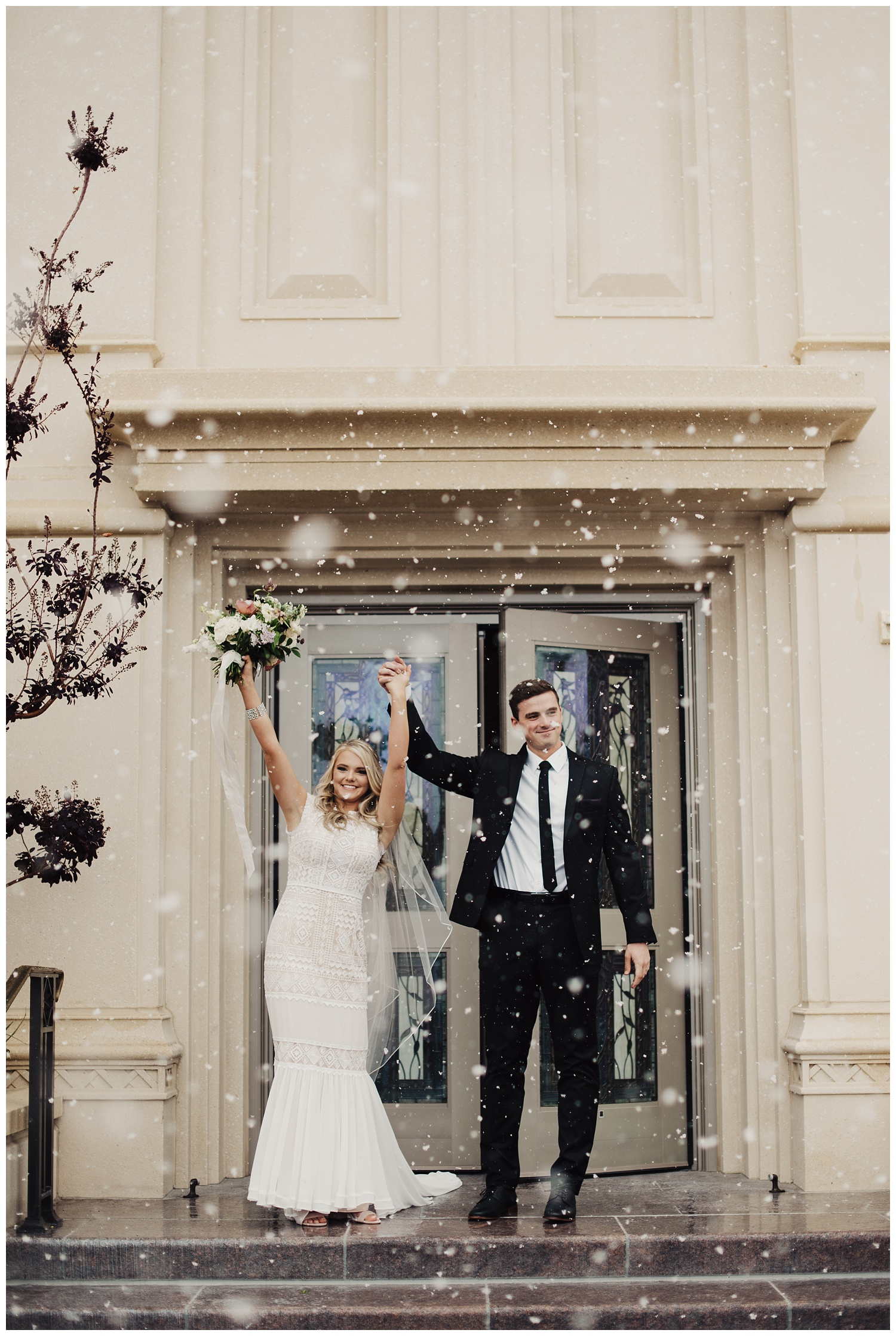 LDS Payson Temple Wedding