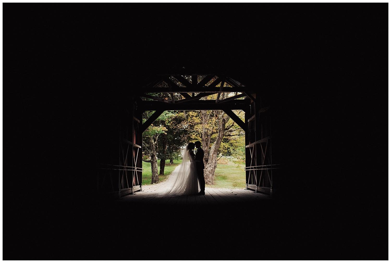 bride and groom wedding portraits at riverside farm