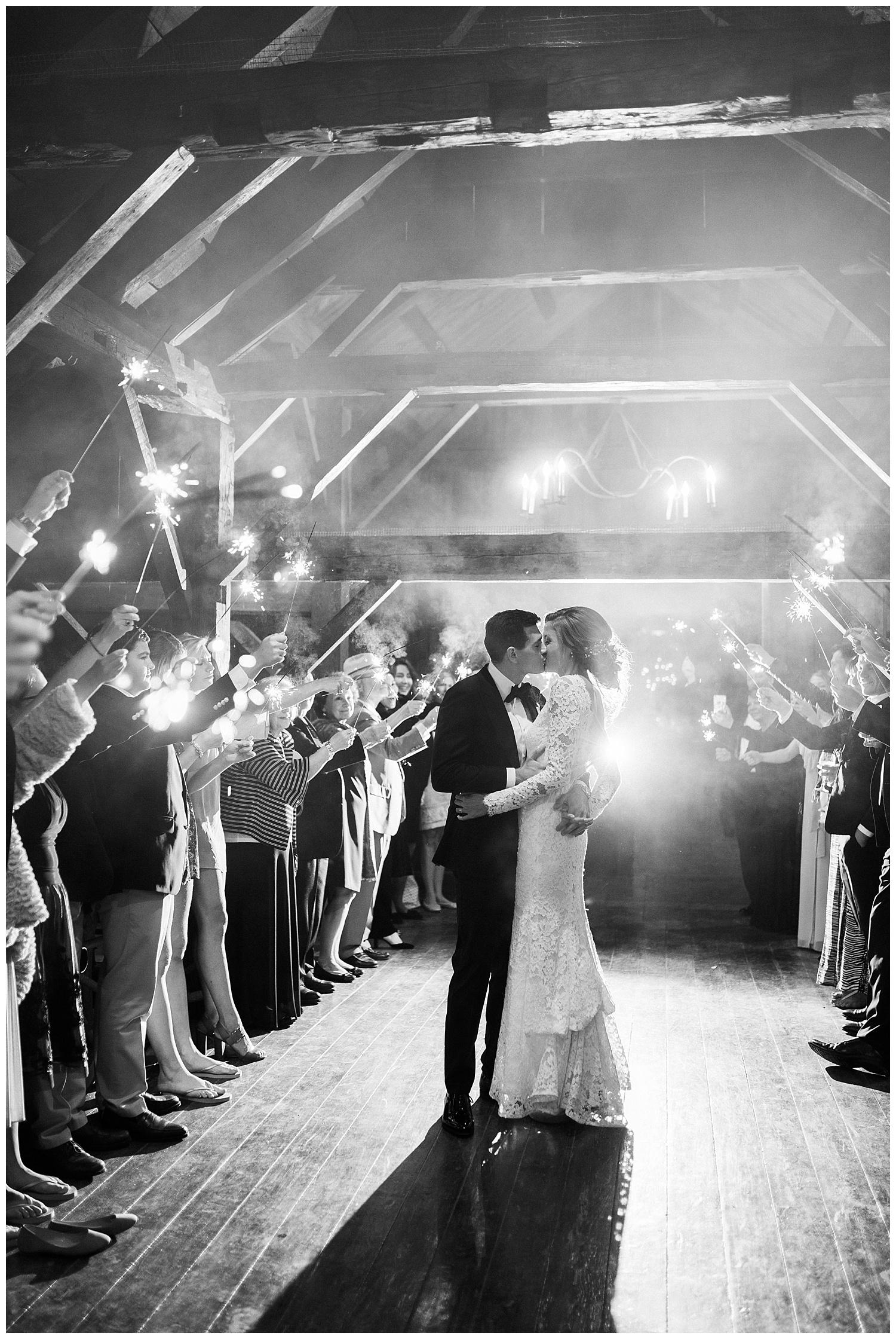 Sparkler Exit Wedding Inspiration by Eden Strader