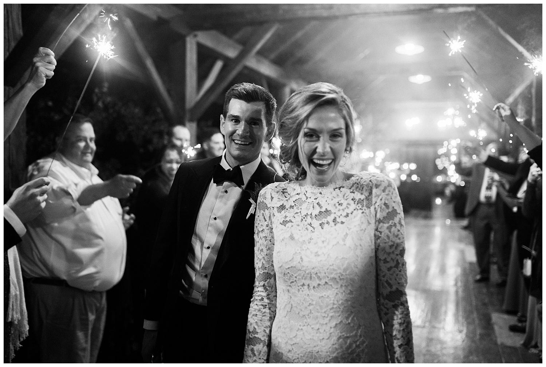 riverside warm wedding sparkler exit