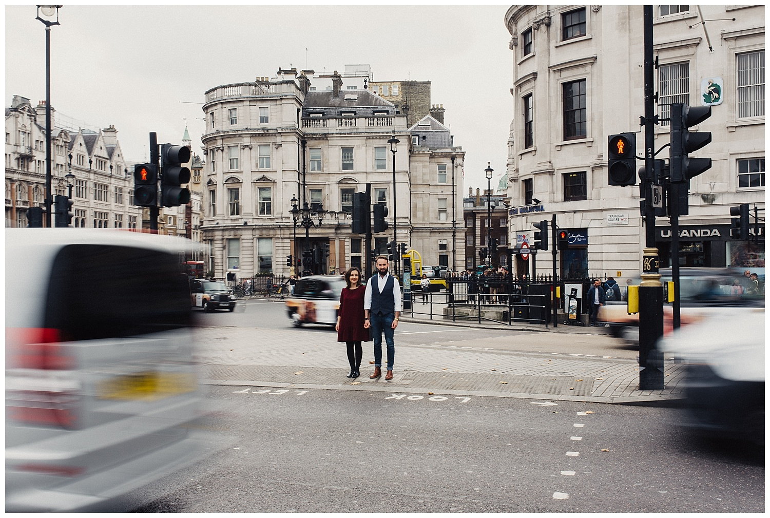 Trafalgar Square engagement session