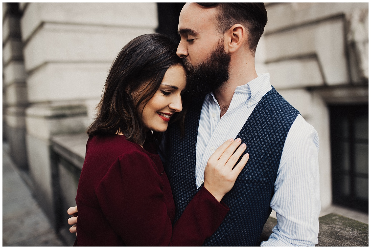 Forehead Kiss engagement session